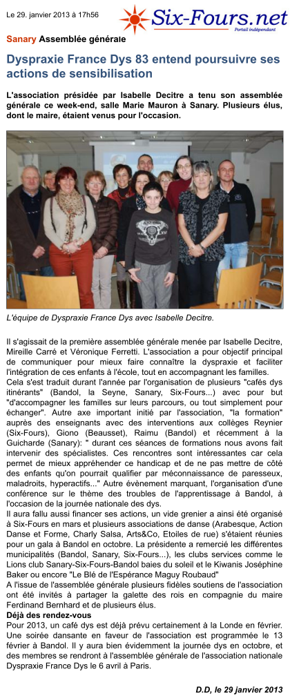 Article Six Fours 29-01-2013