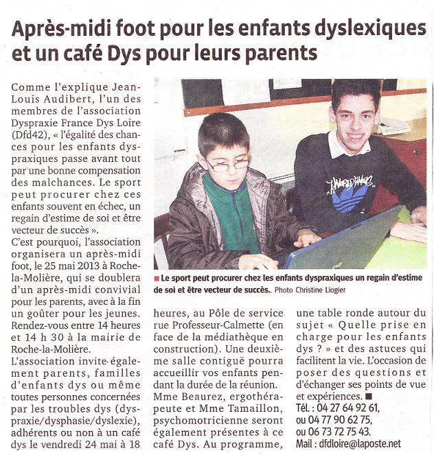 Article dans Le Progrès du 19/05/2013