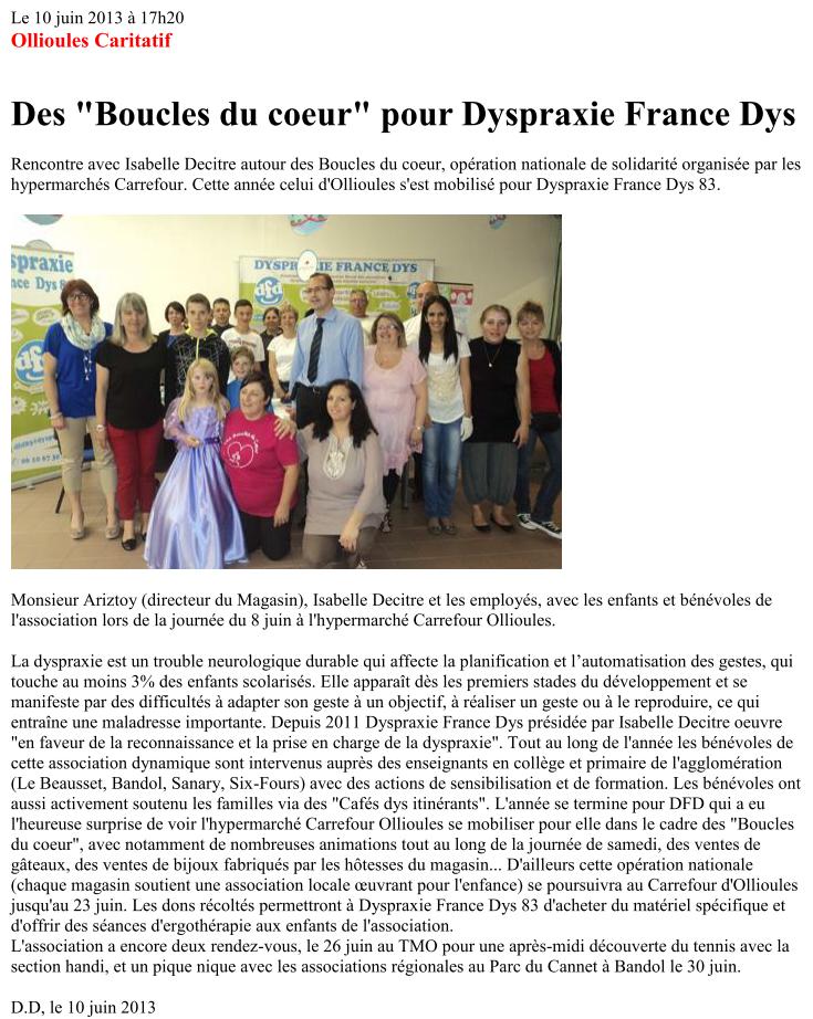 Article du 10 juin 2013