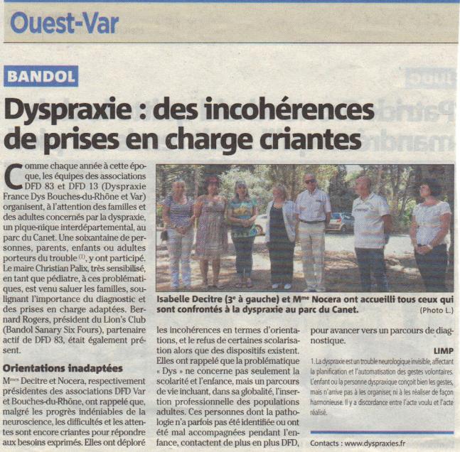 Article Ouest Var juin 2013