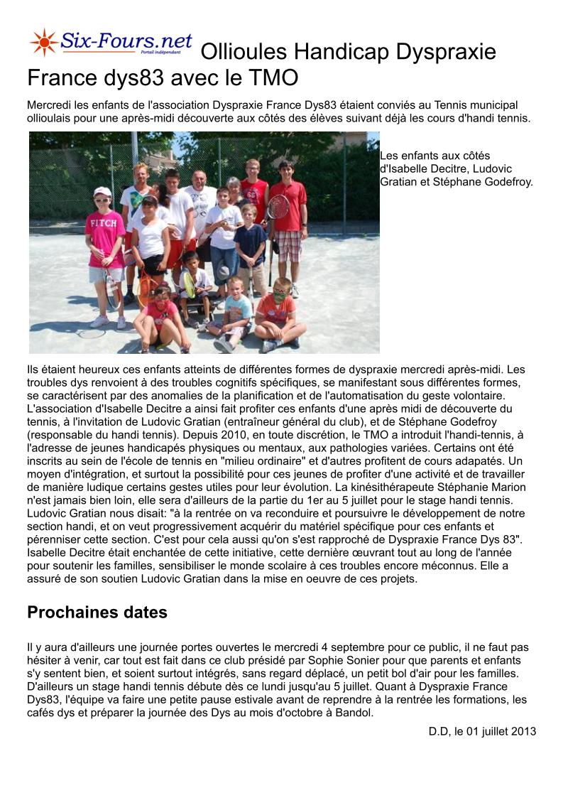 Article du 1er juillet 2013