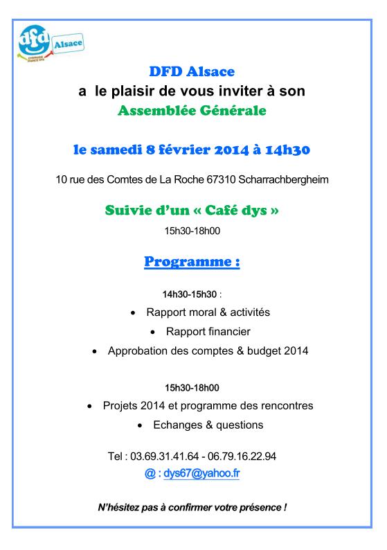 AG et café dys 8 février 2014