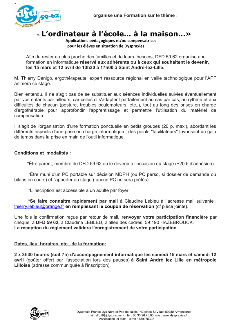 Formation informatique 1