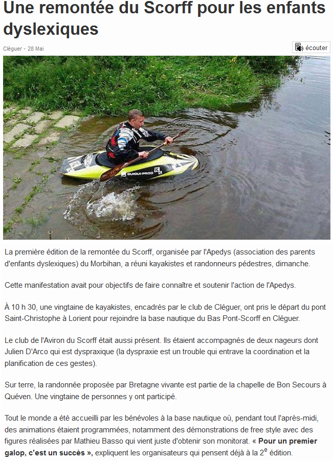 Article Ouest-France 28 mai 2014