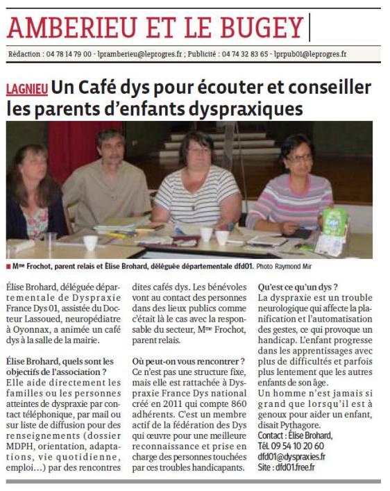 Article Le Progrès 2/07/2014
