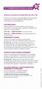 programme JND 2015