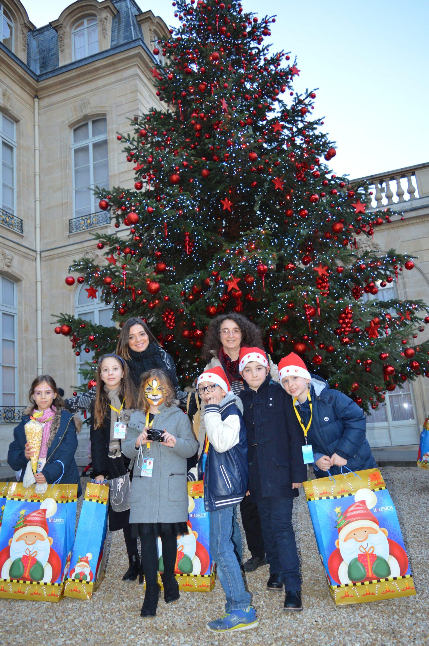 Des enfants de la FFdys invités à l'arbre de Noël de l'Elysée
