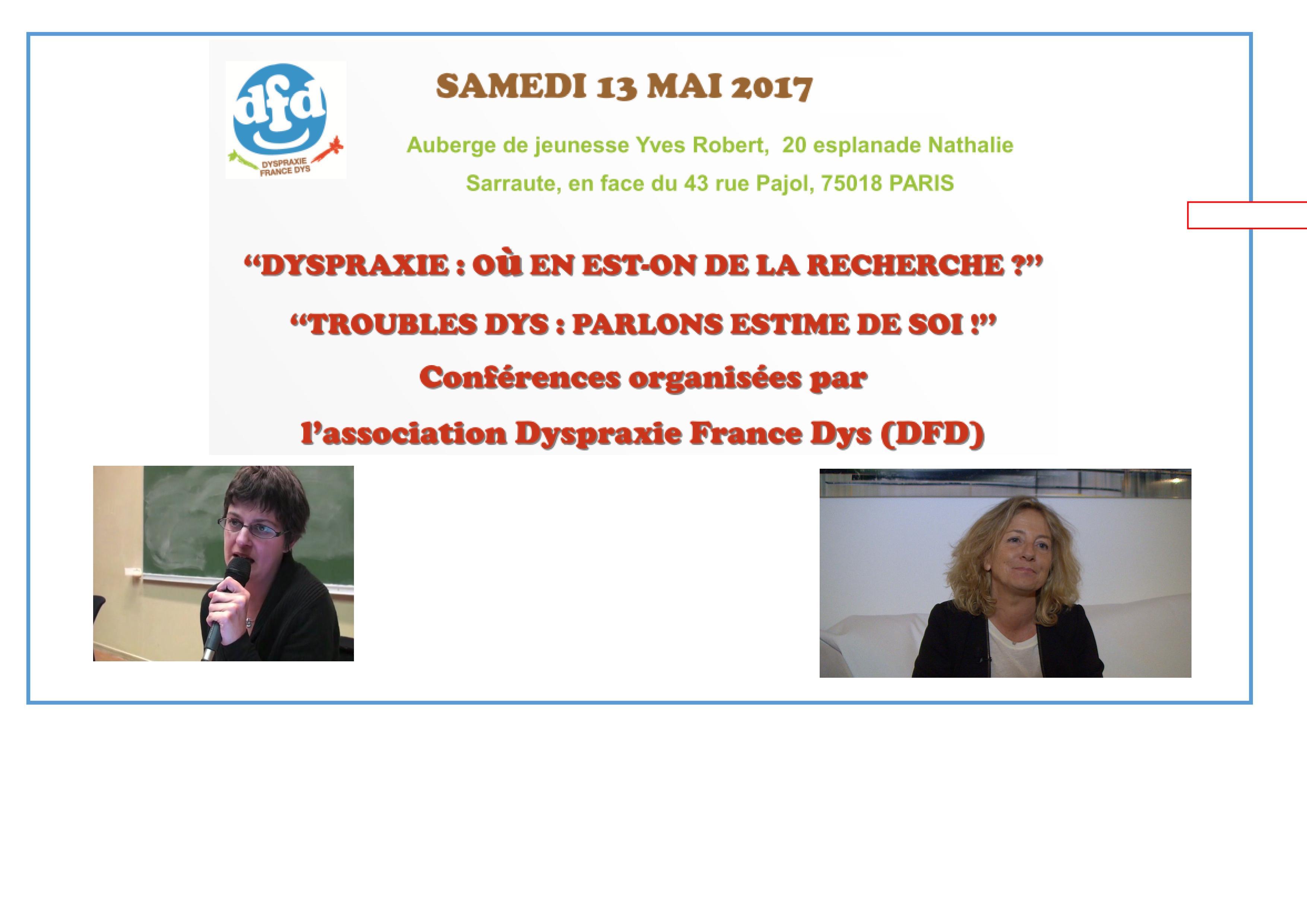 AG de DFD et Conférences – 13 mai 2017 à Paris
