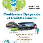 DFD01 Conférence  Soirée Dys Nantua