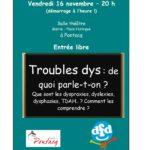"""DFD 64 : Conférence """"Troubles dys, de quoi parle-t-on ?"""""""