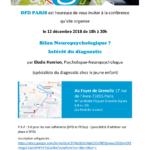DFD Paris : conférence bilan neuropsychologique