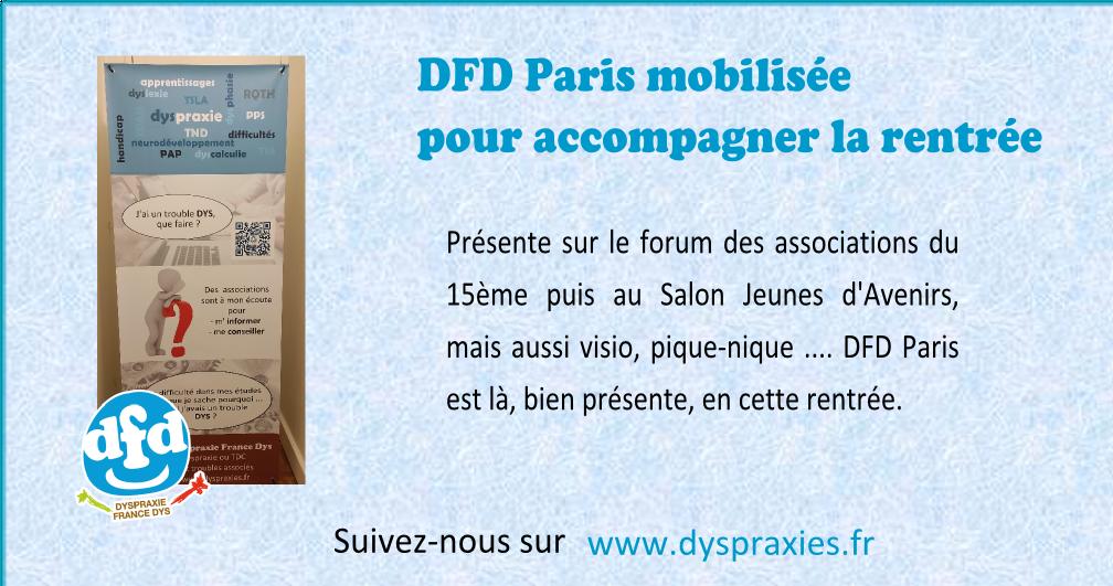 Read more about the article DFD Paris mobilisée pour la rentrée